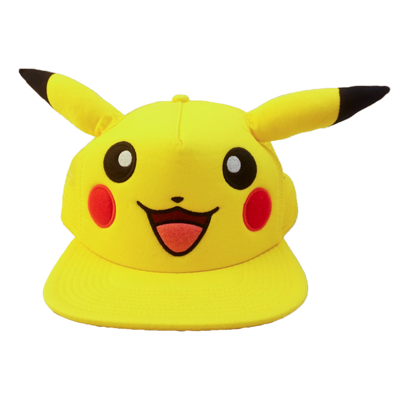 Pokemon - Pikachu Big Face with Ears Trucker Snapback