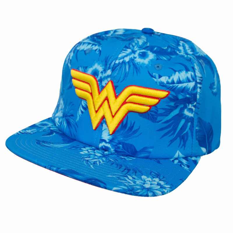 DC Comics - Wonder Woman Blue Floral Strapback Hat