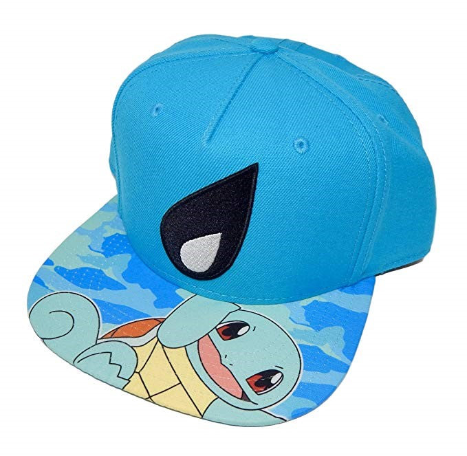 Squirtle Pokemon Snapback Hat