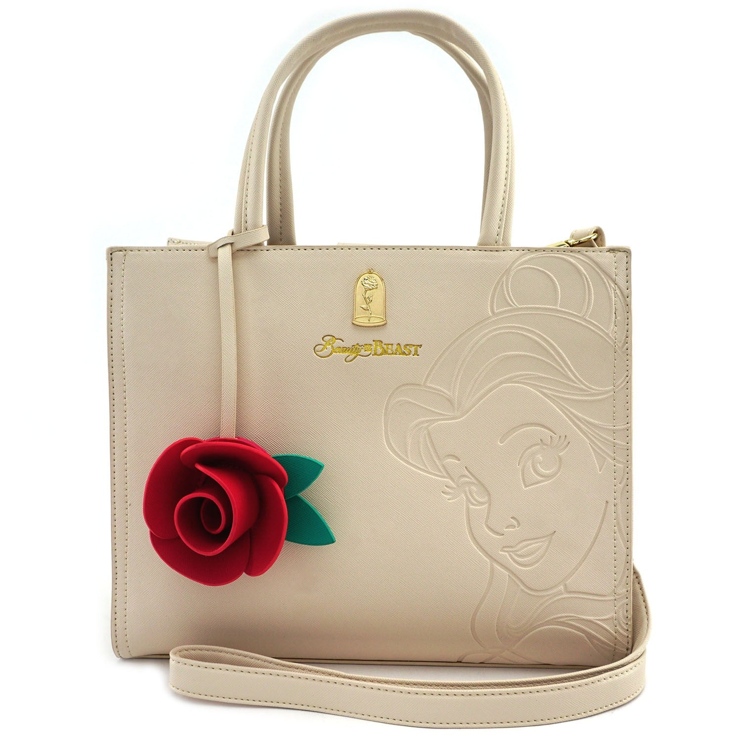 Loungefly x Disney Belle Embossed Tote Bag