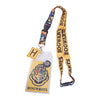 HARRY POTTER - Hogwarts Lanyard with Charm, ID Badge Holder, and Collectible Sticker