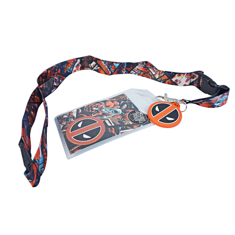 Marvel - Deadpool Breakaway Lanyard with Charm and Collectible Sticker