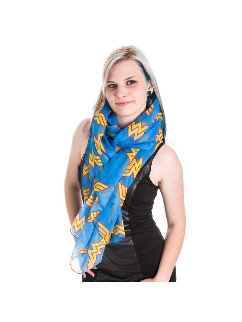Wonder Woman Blue Toss Scarf