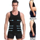 Be-In-Shape Men's Slimming Vest Body Shaper Corrective Posture Belly Control Compression Shirt Loss Weight Underwear Corset