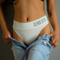 Mid-Rise Cotton Seamless Thongs