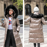 X-long Oversize Thick Fur Lined Down Coats