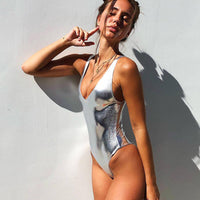 Shiny One-Piece Swimsuit