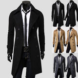 Single-Breasted Warm Wool Long Overcoat