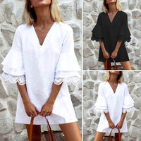 Half Fare Ruffle Sleeve Dress