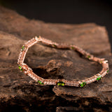 Lanmi Women's Natural Oval Tsavorite 18K Gold Bracelet