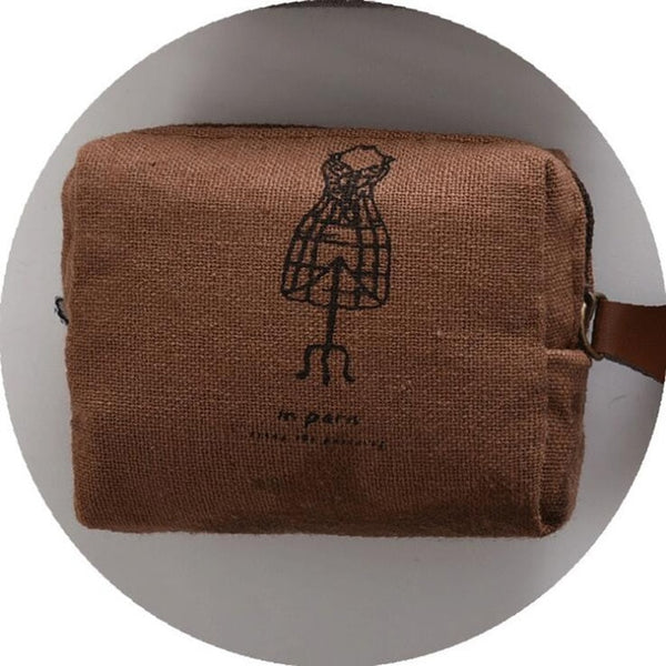 Vintage Classic Women Man Canvas Coin Purse Zip Wallet Small Mini Bag Case Pouch Holder Retro Money Bags Gift