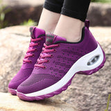 Breathable Mesh Lace-up Tennis Shoes