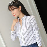 Striped Casual Long Sleeve Blouse
