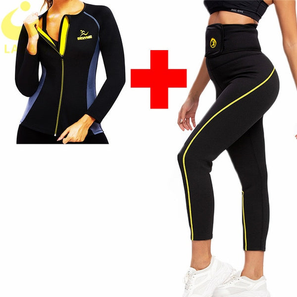 Hot Long Sleeve Top & Ankle Length Pants Weight Loss Set