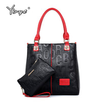 YBYT Brand New Fashion Woman Luxury Handbag Large Capacity Composite Bag Ladies Leather Shoulder Messenger Bag Totes Purse 2019