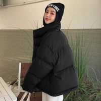 Korean Style Down Feather Loose Fit Oversized Coat