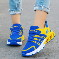 Autumn Kids Shoes Boys Sneakers Breathable Patchwork Hook&Loop Sport Running Children Shoes For Girls Casual Shoes 2020