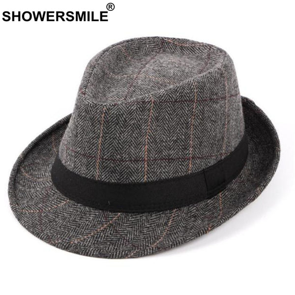 Wool Plaid Designer Fedora