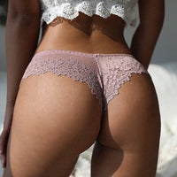 Lace Low-waist Floral Embroidered Panties