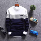 2020 New Men's Autumn Winter Pullover Wool Slim Fit Striped Knitted Sweaters Mens Brand Clothing Casual pull homme hombre