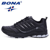 BONA New Most Popular Style Men Running Shoes Outdoor Walking Sneakers Comfortable Athletic Shoes Men  For Sport