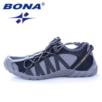 BONA New Popular Style Men Running Shoes Lace Up Athletic Shoes Outdoor Walkng jogging Sneakers Comfortable Fast