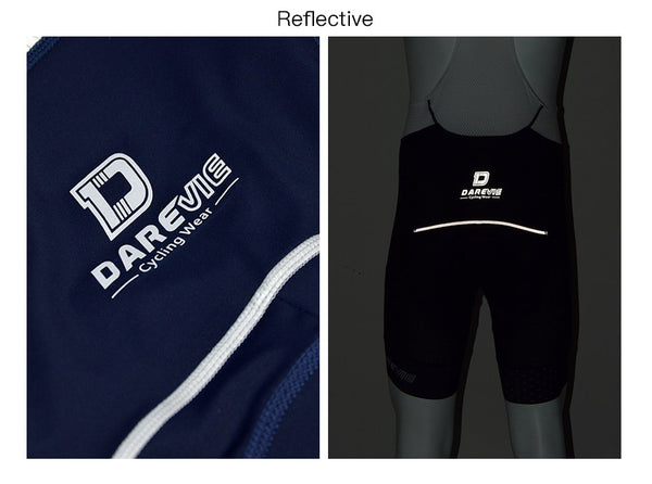 Darevie Cycling Bib Shorts Men Breathable Pro Cycling Bib Shorts Shockproof 3D Sponge Pad Cycling Pants 7cm Leg Band 6 Hour Ride