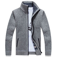 Sweater Men Autumn Winter Cardigan SweaterCoats Male Thick Faux Fur Wool Mens Sweater Jackets Casual Knitwear Plus Size M-4XL