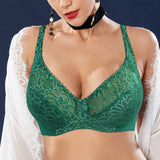 Plus Size Womens Lace Bra Lager Bosom See through Bralette Underwired Sexy Lingerie 34 36 38 40 42 44 B C D DD E F Cup