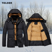 Winter Thick Cotton-Padded Jacket Detachable-Hood