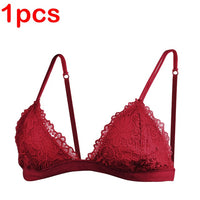 Deruilady Ultra Thin Sexy Lace Bras for Women Transparent Wireless Push Up Bra Unlined Comfort Underwear Bralette Sexy Lingerie