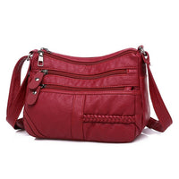 High Quality Women's Soft Leather Shoulder Bags Multi-Layer Classic Crossbody Bag Luxury Designer Handbag and Purse