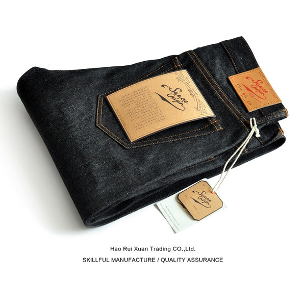 Sauce Origin 915-Pi Taper Fit Selvedge Raw Handmade Button Fly Jeans