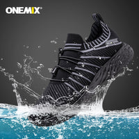 ONEMIX Unisex Running Shoes Breathable Mesh Men Athletic Shoes Super Light Outdoor Women Sports Shoes Male Walking Jogging Shoes