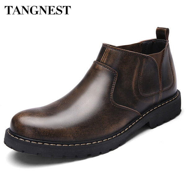 Tangnest Retro Men's Casual Work Boot