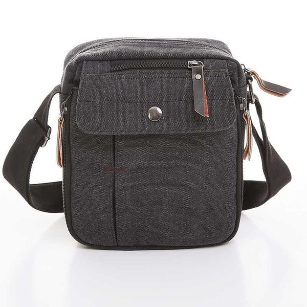 Men's Canvas Cross-Body Travel Bag