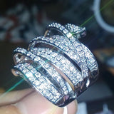 10kt White Gold Cubic Zircon Wedding Ring