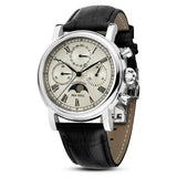 Men's Automatic Mechanical Genuine Leather Waterproof Watch by LTCJ