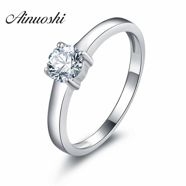 Sona Simulated Diamond Four Claw Engagement Ring