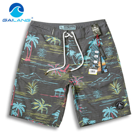 Men's Quick-drying Palm Tree Printed Swimwear