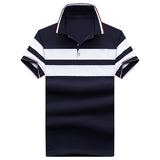 Mountainskin Brand Striped Men's Short Sleeve Polo Shirt