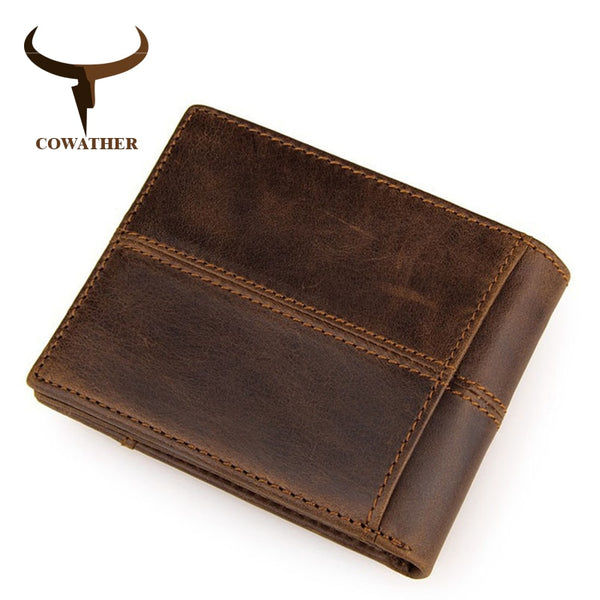 Genuine Leather Bi-fold Wallet by Cowather