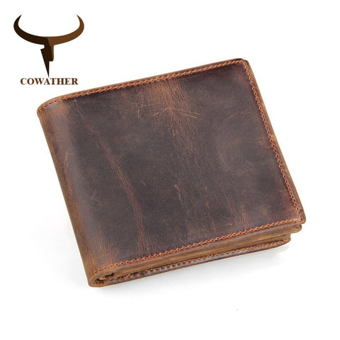 Genuine Leather Bi-fold Wallet