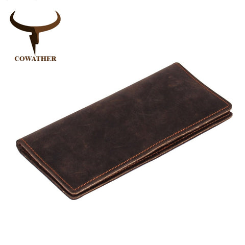 Genuine Leather Long Men's Wallet