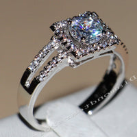Victoria Wieck  10kt White Gold Cubic Zircon Ring