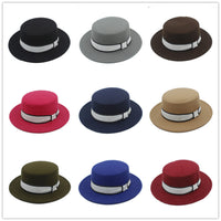 Men's Wool Flat Homburg Fedora