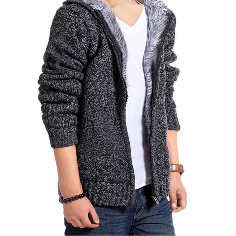 Men's Cardigan Sweater Knitted Slim Fit Casual Jacket/Coat