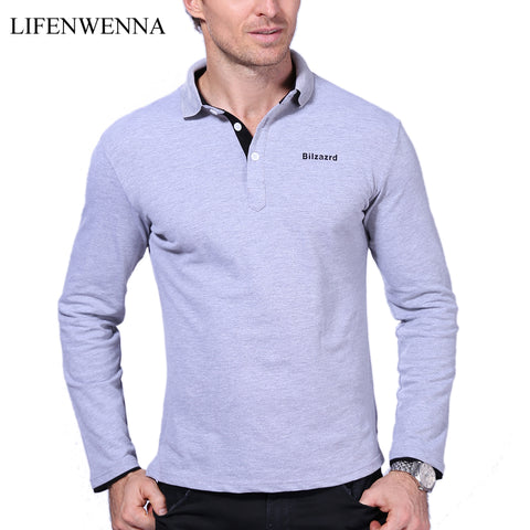 Men's Long-Sleeve Solid Colored Plus Size Shirt by Lifenwenna
