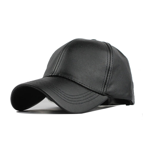 Faux Leather Stylish Baseball Cap