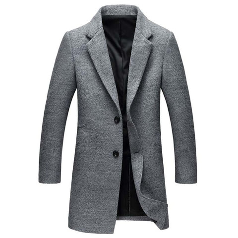 Mwxsd Brand Men's English Style Wool Blend Warm Overcoat/Jacket